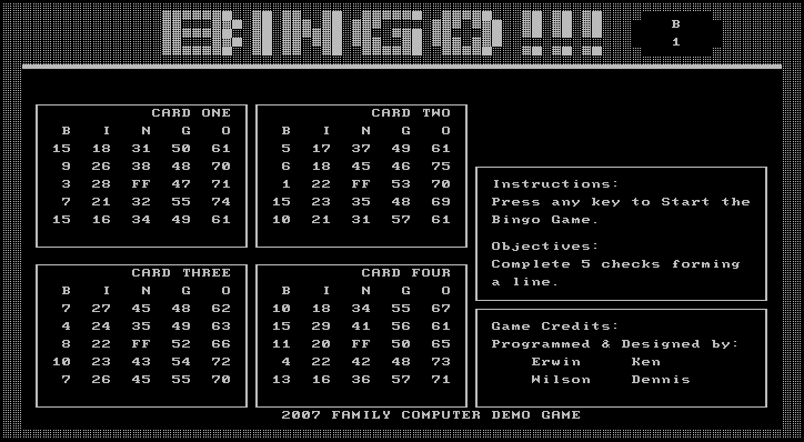 C Bingo Game Source Code Gensanblog Com