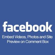 Facebook embed videos, photos and website on Comment Box
