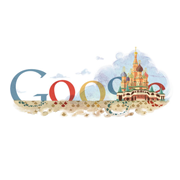 Google Logo St. Basil's Cathedral 450th Anniversary (July 12, 2011)