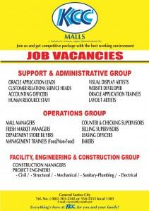 kcc mall  gensan job vacancies august  gensanblogcom