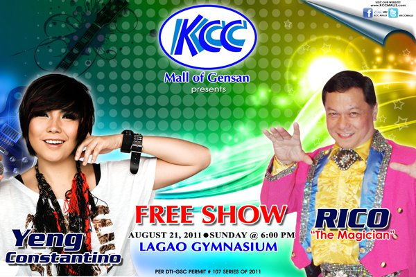 Yeng Constantino and Rico The Magician Show at Gensan (August 21, 2011)