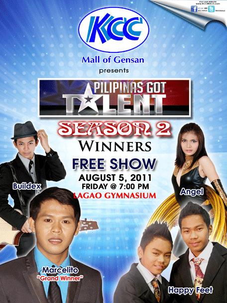 PGT Season 2 Winner Show at Lagao Gymnasium (August 5, 2011)