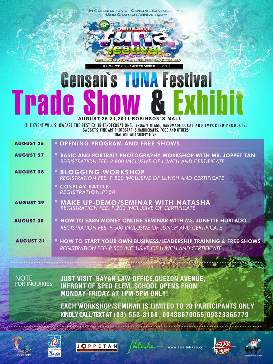 Gensan's Tuna Festival – Trade Show and Exhibit (August 26-31, 2011)
