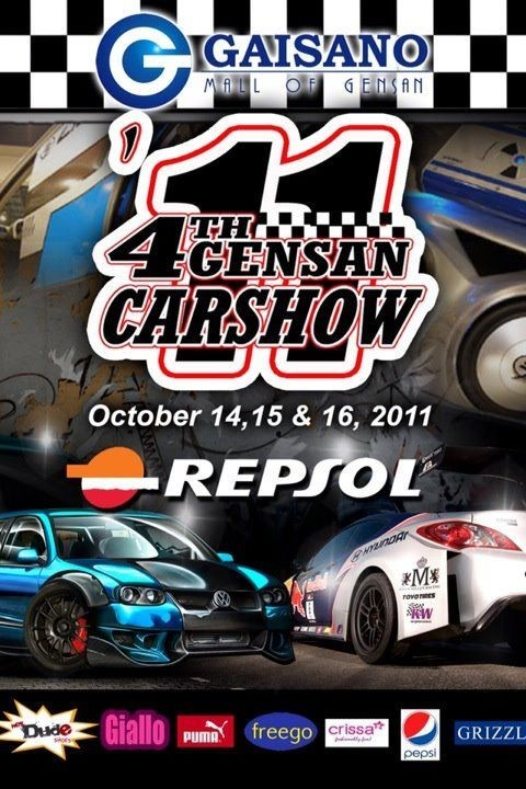 4th Gensan Carshow 2011 (October 14 to 16, 2011)