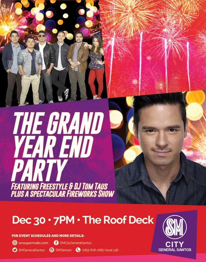 SM City General Santos – Grand Year-End Party featuring FREESTYLE BAND and DJ TOM TAUS