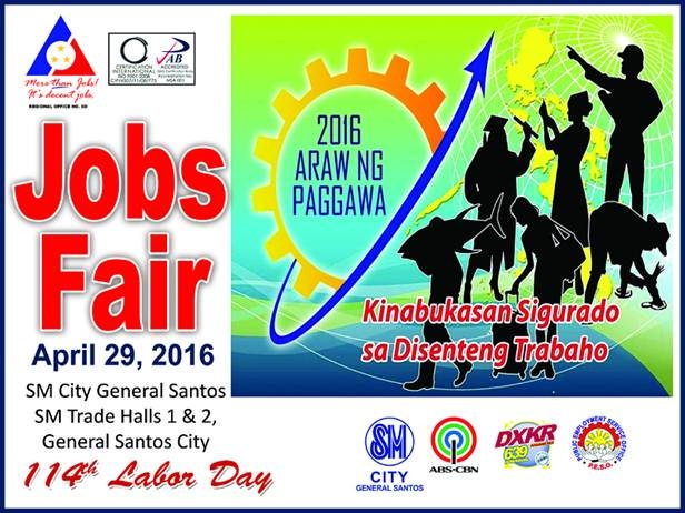Jobs Fair on April 29, 2016 in Partnership with SM Malls and DOLE